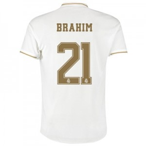 Real Madrid Home Authentic Shirt 2019-20 with Brahim 21 printing