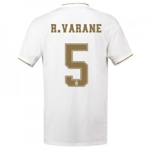 Real Madrid Home Shirt 2019-20 with R. Varane 5 printing