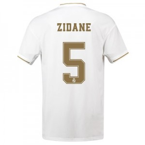 Real Madrid Home Shirt 2019-20 with Zidane 5 printing