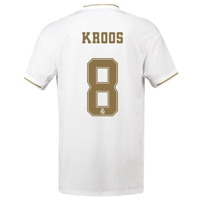 Real Madrid Home Shirt 2019-20 with Kroos 8 printing