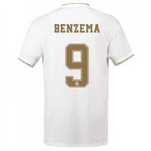 Real Madrid Home Shirt 2019-20 with Benzema 9 printing