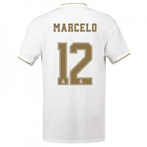 Real Madrid Home Shirt 2019-20 with Marcelo 12 printing