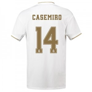 Real Madrid Home Shirt 2019-20 with Casemiro 14 printing