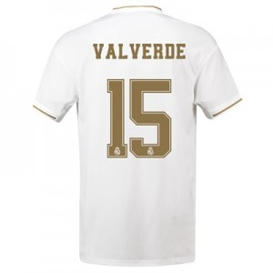 Real Madrid Home Shirt 2019-20 with Valverde 15 printing