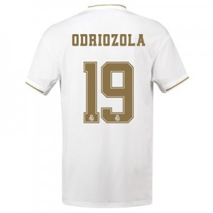 Real Madrid Home Shirt 2019-20 with Odriozola 19 printing