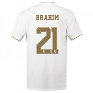 Real Madrid Home Shirt 2019-20 with Brahim 21 printing