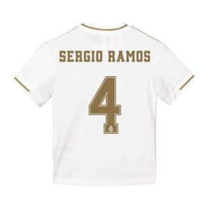 Real Madrid Home Shirt 2019-20 - Kids with Sergio Ramos 4 printing