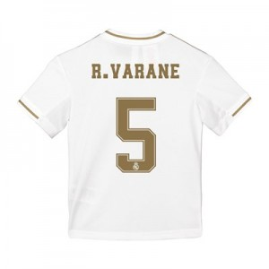 Real Madrid Home Shirt 2019-20 - Kids with R. Varane 5 printing