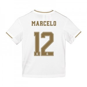 Real Madrid Home Shirt 2019-20 - Kids with Marcelo 12 printing