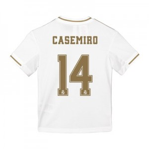 Real Madrid Home Shirt 2019-20 - Kids with Casemiro 14 printing
