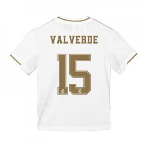 Real Madrid Home Shirt 2019-20 - Kids with Valverde 15 printing