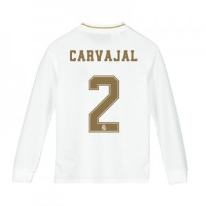 Real Madrid Home Shirt 2019-20 - Long Sleeve - Kids with Carvajal 2 printing