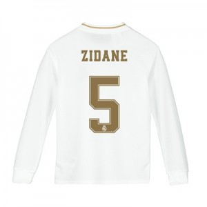 Real Madrid Home Shirt 2019-20 - Long Sleeve - Kids with Zidane 5 printing