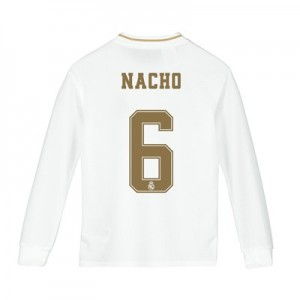 Real Madrid Home Shirt 2019-20 - Long Sleeve - Kids with Nacho 6 printing