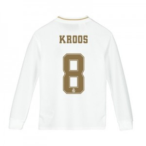 Real Madrid Home Shirt 2019-20 - Long Sleeve - Kids with Kroos 8 printing