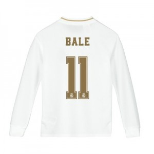 Real Madrid Home Shirt 2019-20 - Long Sleeve - Kids with Bale 11 printing