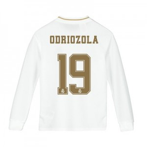 Real Madrid Home Shirt 2019-20 - Long Sleeve - Kids with Odriozola 19 printing