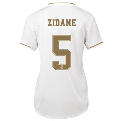 Real Madrid Home Shirt 2019-20 - Womens with Zidane 5 printing
