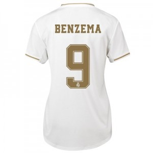 Real Madrid Home Shirt 2019-20 - Womens with Benzema 9 printing