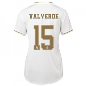 Real Madrid Home Shirt 2019-20 - Womens with Valverde 15 printing