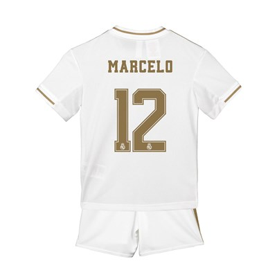 Real Madrid Home Mini Kit 2019 - 20 with Marcelo 12 printing