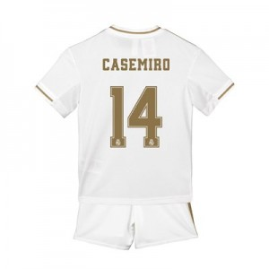 Real Madrid Home Mini Kit 2019 - 20 with Casemiro 14 printing