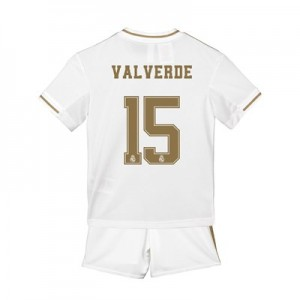 Real Madrid Home Mini Kit 2019 - 20 with Valverde 15 printing