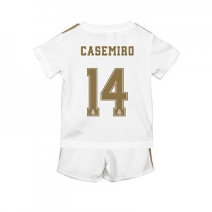 Real Madrid Home Baby Kit 2019 - 20 with Casemiro 14 printing