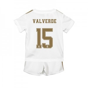 Real Madrid Home Baby Kit 2019 - 20 with Valverde 15 printing
