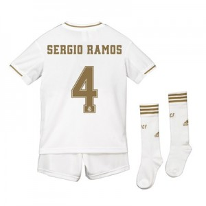 Real Madrid Real Madrid Home Kit 2019 - 20 - Kids with Sergio Ramos 4 printing