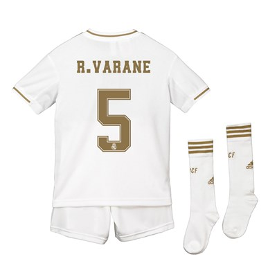Real Madrid Real Madrid Home Kit 2019 - 20 - Kids with R. Varane 5 printing