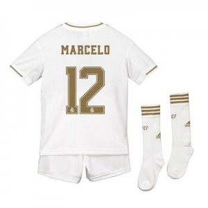 Real Madrid Real Madrid Home Kit 2019 - 20 - Kids with Marcelo 12 printing