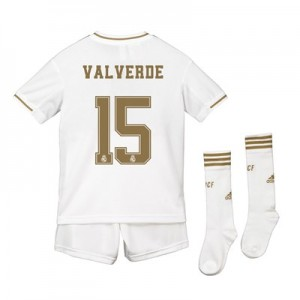 Real Madrid Real Madrid Home Kit 2019 - 20 - Kids with Valverde 15 printing