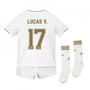 Real Madrid Real Madrid Home Kit 2019 - 20 - Kids with Lucas V. 17 printing