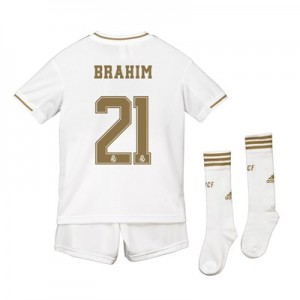 Real Madrid Real Madrid Home Kit 2019 - 20 - Kids with Brahim 21 printing