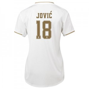 Real Madrid Home Shirt 2019-20 - Womens with Jovic 18 printing