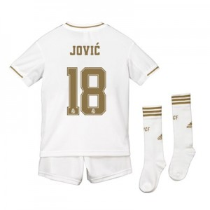 Real Madrid Real Madrid Home Kit 2019 - 20 - Kids with Jovic 18 printing