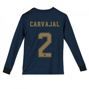 Real Madrid Away Shirt 2019 - 20 - Kids - Long Sleeve with Carvajal 2 printing