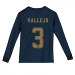 Real Madrid Away Shirt 2019 - 20 - Kids - Long Sleeve with Vallejo 3 printing