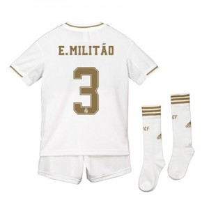 Real Madrid Home Kit 2019 - 20 - Kids with E. Militão 3 printing
