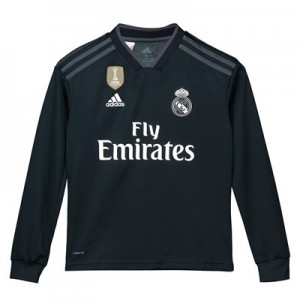 Real Madrid Away Shirt 2018-19 - Long Sleeve - Kids