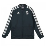 Real Madrid Training Woven Presentation Jacket - Dark Grey - Kids