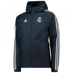 Real Madrid Training Rain Jacket - Dark Grey