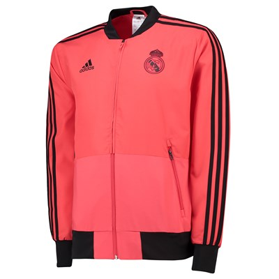 Real Madrid UCL Training Presentation Jacket - Red