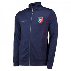 Leicester Tigers Full Zip Mid Layer - Navy - Mens