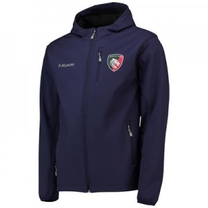 Leicester Tigers Matchday Softshell Jacket - Navy - Mens