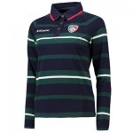 Leicester Tigers Yarn Dye Rugby Jersey - Navy - Womens