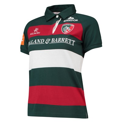 Leicester Tigers Home Classic Jersey Short Sleeve 2018/19 - Womens