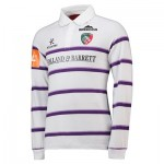 Leicester Tigers Alternate Classic Jersey Long Sleeve 2018/19 - White/Purple - Mens