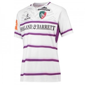 Leicester Tigers Alternate Replica Jersey 2018/19 - White/Purple - Womens